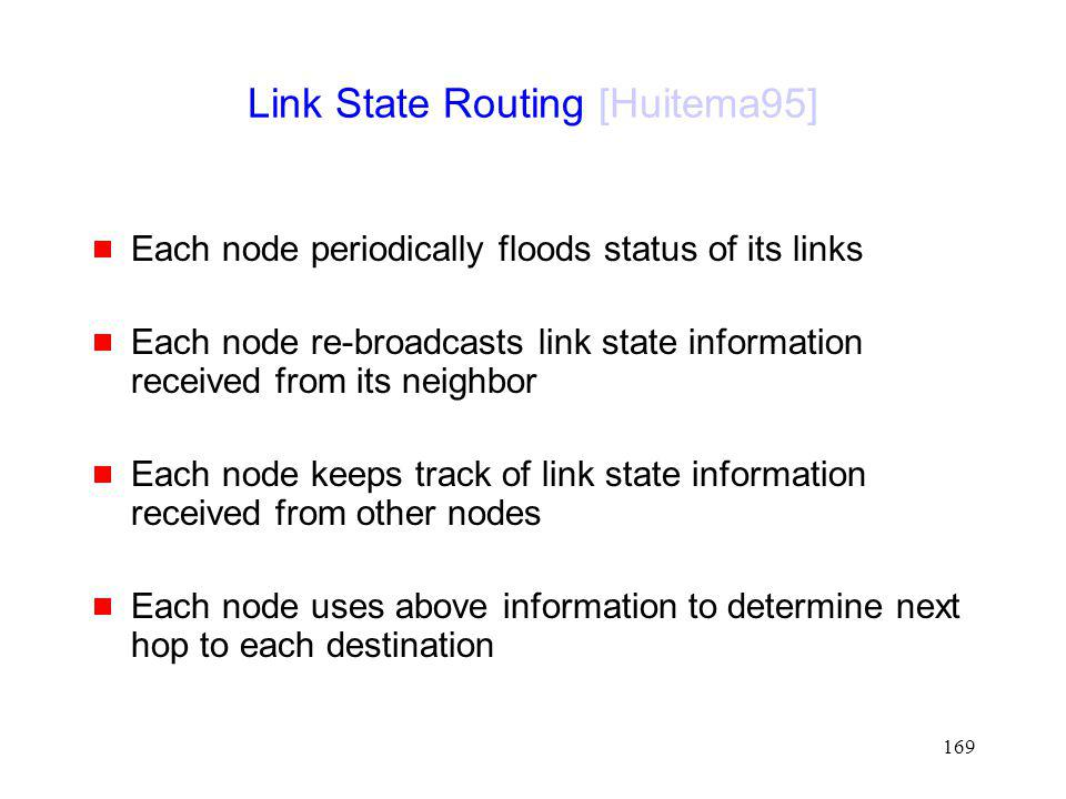 Link State Routing [Huitema95]
